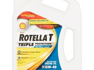 Rotella 550019913 T Triple Protection CJ 4 15W 40 Motor Oil   1 Gallon
