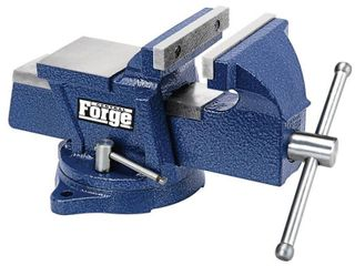 CENTRAl FORGE 4 In  Swivel Vise With Anvil