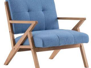 Retro Single Sofa Chair Solid Wood lounge