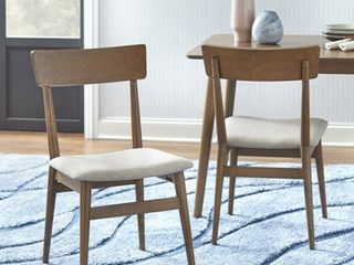 TMS Newington Mid  Century Dining Chairs  Set of 2    Mocha