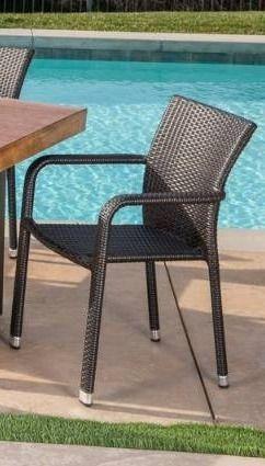 Bernie Outdoor Wicker Chair Set   Set of 3
