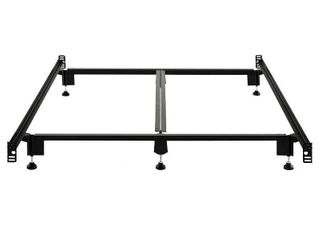 STRUCTURES STEElOCK Headboard Footboard Super Duty Steel Wedge lock Metal Bed Frame with Adjustable Height Glides   Functions as Bed Rails   Queen