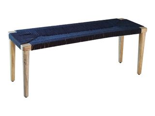 The Curated Nomad Tuscaloosa Woven Seat Bench
