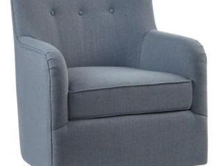 Madison Park Jayne Swivel Chair Blue