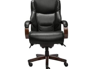 Delano Big   Tall Executive Office Chair  Bonded leather Jet Black