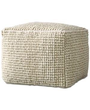 24  Square Wool Pouf