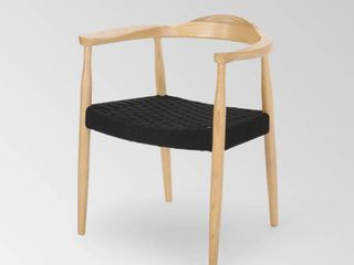 Palmyra Mid Century Modern Ash Wood Accent Chair with Olefin Rope Seat by Christopher Knight Home Retail 219 99