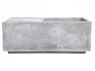 Ambai Natural lightweight Concrete Square Planter