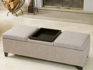 Harold Fabric Storage Ottoman by Christopher Knight Home
