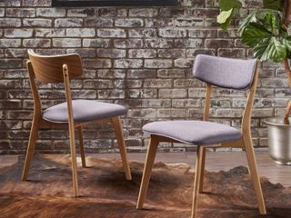 Chazz Mid century Fabric Dining Chair