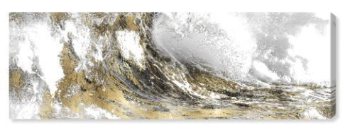 Oliver Gal Wave in A Moment Gold Canvas Print