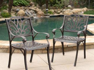 Alfresco Outdoor 2 Piece Metal Chair Set