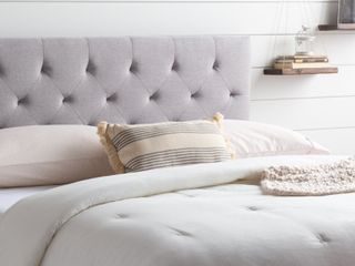 Brookside Emmie Mid rise Upholstered Headboard   Queen