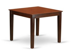 East West Furniture Oxford Dining Table   Mahogany