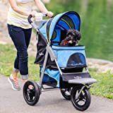 Gen7Pets G7 Jogger Dog   Cat Stroller   26 l x 14 W   Blue