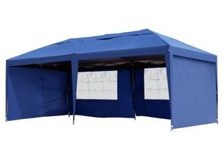 Outsunny Easy Pop Up Tent with 4 Removable Sidewalls  Retail 164 49
