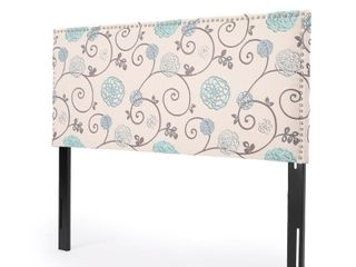 Hilton Adjustable Full Queen Floral Fabric Headboard