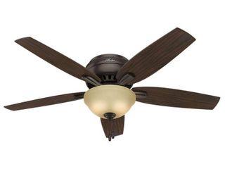 Hunter 52  Newsome Premier Bronze Ceiling Fan w  light Kit   Pull Chain