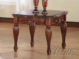 Furniture of America Sibu European Cherry Solid Wood Nightstand End Table