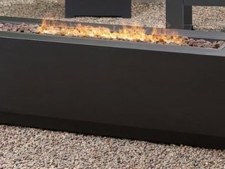 Wellington Outdoor Rectangular Firepit by Christopher Knight Home  Retail 495 99