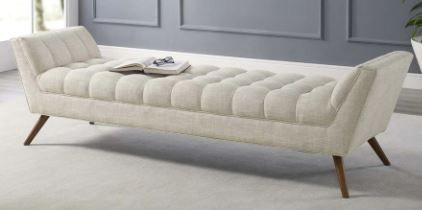 Response Upholstered Fabric Bench