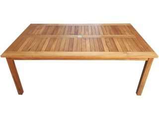 Chic Teak Bermuda Rectangular Teak Wood Patio Bistro Dining Table