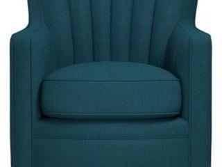 Hasselt Peacock linen Swivel Chair