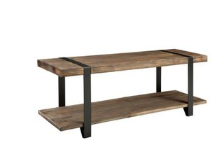 Carbon loft Kenyon 48  Metal and Reclaimed Wood Bench