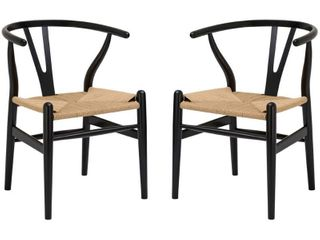 Poly and Bark Weave Chair   Set of 2
