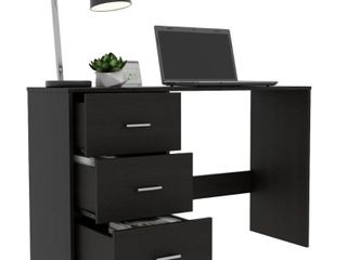 TUHOME Classic 3 Drawer Computer Desk
