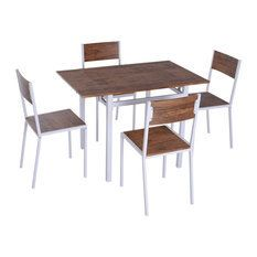 Drop leaf Counter Height Dining Table Set w  4 Chairs