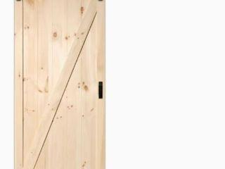 Knotty Pine DIY Single Paneled Barn Wood Door w  Installation