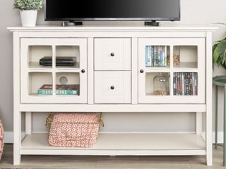 Middlebrook Designs 52 inch White Buffet Cabinet TV Console  Retail 353 49