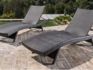 Vilano Outdoor lounge Chairs  Set of 2  by Havenside Home Retail 462 49