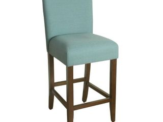 HomePop 29 inch Bar Height Textured Aqua Upholstered Barstool   Retail 106 00