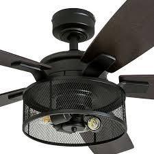 Honeywell Carnegie Black Mesh lED Ceiling Fan
