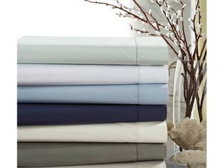 Crisp Percale Cotton Sheet Set with Extra Deep Pockets   King