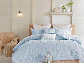 Urban Habitat Maize Cotton Jacquard Comforter 7 Piece Set   King Cali King
