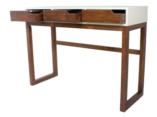 Mid Centry Modern 3 Drawer Wood Console Table