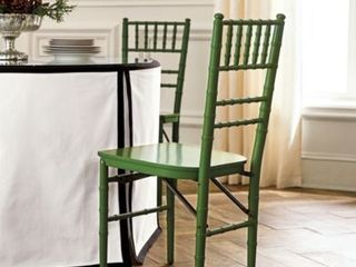 Green Ballroom Folding Chairs   Set of 2