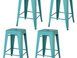 24  Steel Backless Barstool   Set of 4