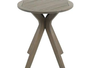Stamford Outdoor Bistro Table with X legs  Broken wood leg  see photos
