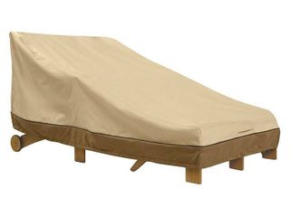 Classic Accessories Veranda Water Resistant 80  Double Wide Patio Chaise lounge Cover
