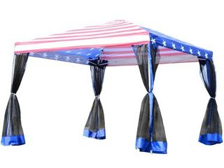 Outsunny 10  x 10  Pop up Canopy Vendor Tent with Removable Mesh Walls Retail 139 49