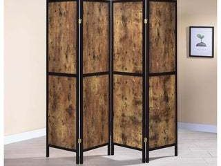 Strick   Bolton Dahlstrom Antique Nutmeg 4 panel Folding Screen   69 50  x 0 75  x 70 25  Retail 157 49