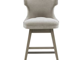 Madison Park Janet light Grey Swivel Counter Stool Retail 199 99