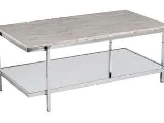 SEI Faux Marble Cocktail Table