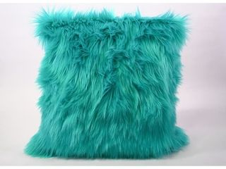 HIGH QUAlITY Decorative New luxury Series Merino Style Fur Throw Fuzzy Pillow Cover for Couch  Bedroom  Sofa 18  x 18