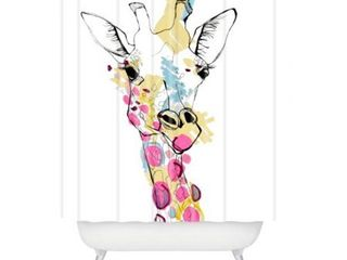 Casey Rogers Giraffe Color Shower Curtain  Retail 82 98