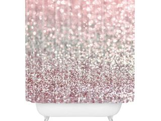 lisa Argyropoulos Girly Pink Snowfall Shower Curtain  Retail 83 03